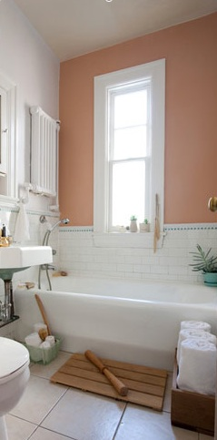 Peachy bathroom