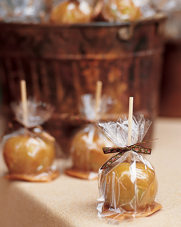 Toffee apples - favors