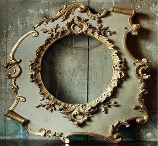 19th Century Rococo Style Gilt Frame, Asymmetrical with S and C Scrolls, Lassco
