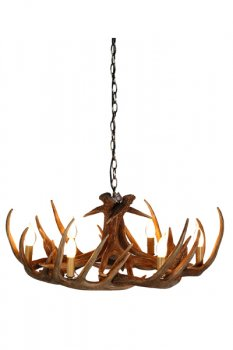 Ivory pearl interiors antler chandelier